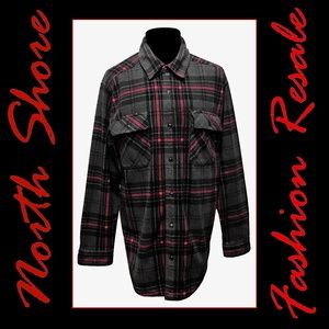 OUTDOOR LIFE MEN'S XL POLY FLANNEL SHIRT